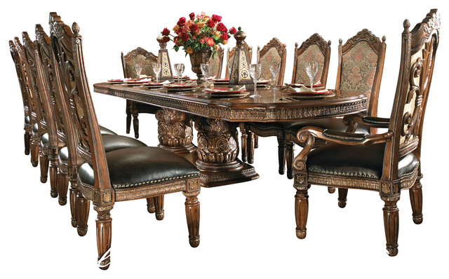 8-Piece Villa Valencia Dining Room Table Set With China - Victorian