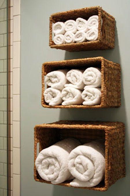 Bathroom Towel Storage Ideas: Another way to take advantage of