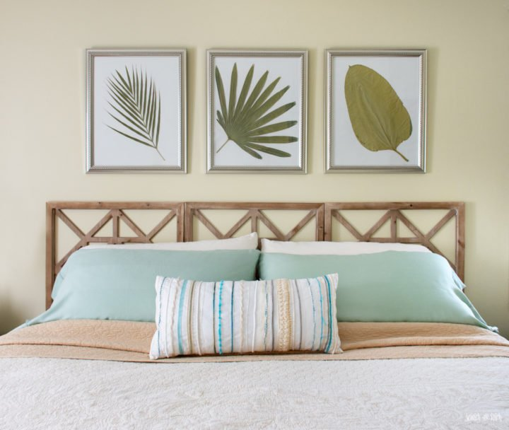 Easy DIY Headboard made from Decorative Wall Panels