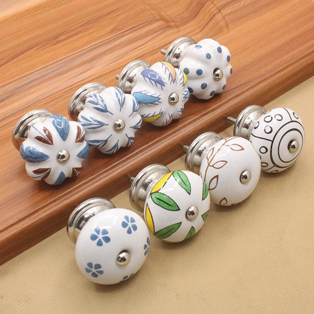1pc Ceramic Knobs Kitchen Cabinet Knobs Handles Dresser Knob Drawer