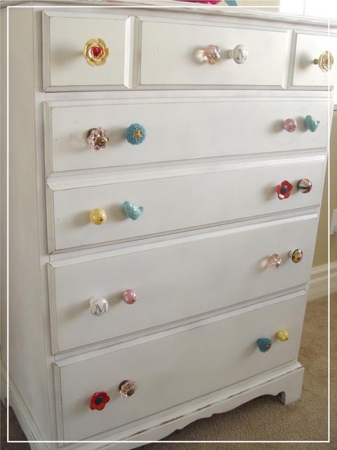 Dresser idea for Josie  Cute knobs Made from a fifteen dollar