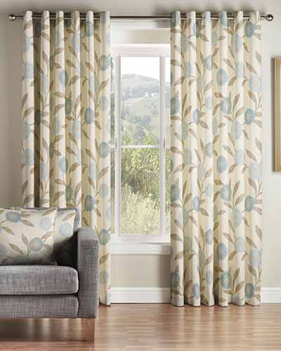 Duckegg Blue Ready Made Curtains | 20% to 50% Off | Montgomery.co.uk
