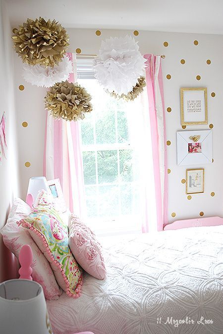 Girl's Room Decorated in Pink & Gold | Livi & Brook's Room