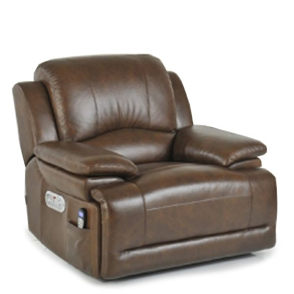 La Z Boy Gizmo Electric Recliner Cognac Brown | Recliner Chairs