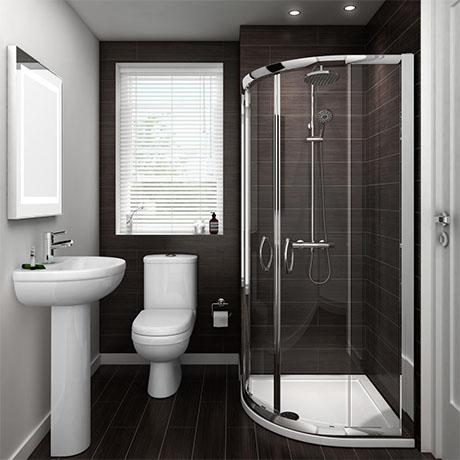 Ivo Suite and Shower Quadrant - En-Suite Set - 2 Size Options