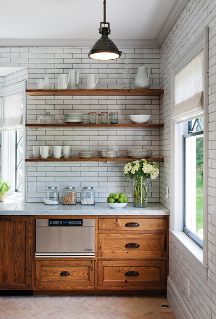 Rustic Reclaimed Chestnut - Rustic - Kitchen - Burlington - by Crown
