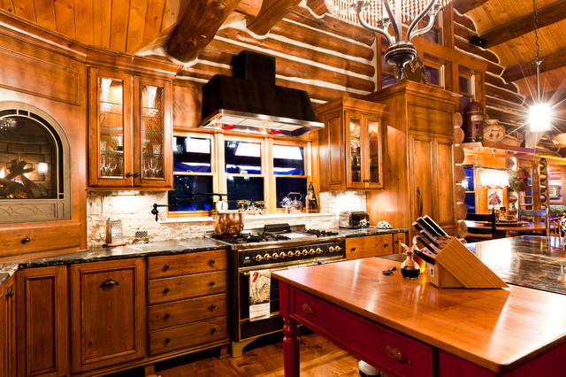 Have the perfect cooking   experience by having the evergreen rustic kitchen