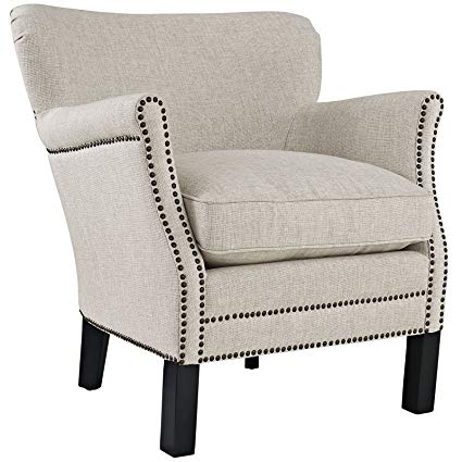 Amazon.com: Modway Key Fabric Armchair, Sand: Kitchen & Dining
