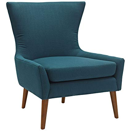 Amazon.com: Modway Keen Upholstered Fabric Armchair in Azure