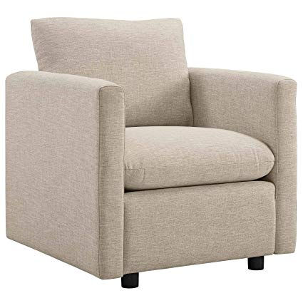 Amazon.com: Modway EEI-3045-BEI Activate Upholstered Fabric Armchair