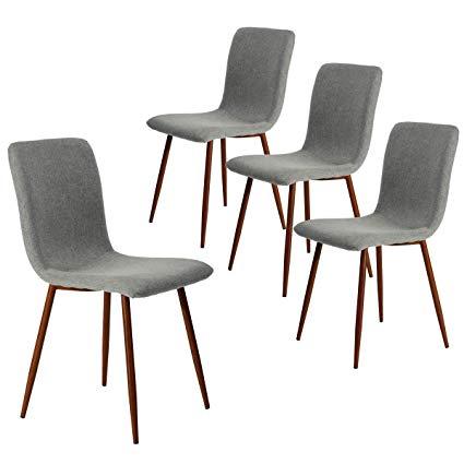 Amazon.com - Coavas Set of 4 Kitchen Dining Chairs Fabric Cushion
