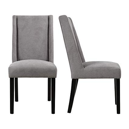 Amazon.com - LSSBOUGHT Upholstered Fabric High Back Dining Chairs