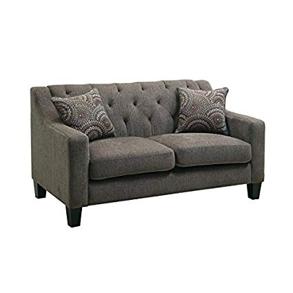 Amazon.com: Furniture of America Kendly Tufted Fabric Loveseat in