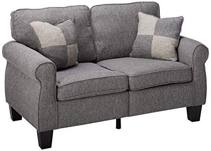 Fabric loveseat furniture feel   the comfort