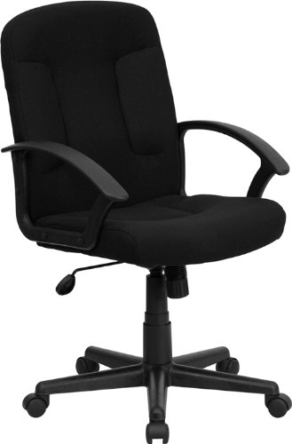 Amazon.com: Flash Furniture Mid-Back Black Fabric Executive Swivel