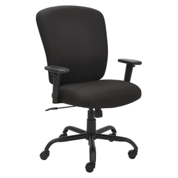 Alera ALEMT4510 Mota Black Big & Tall Fabric Office Chair with