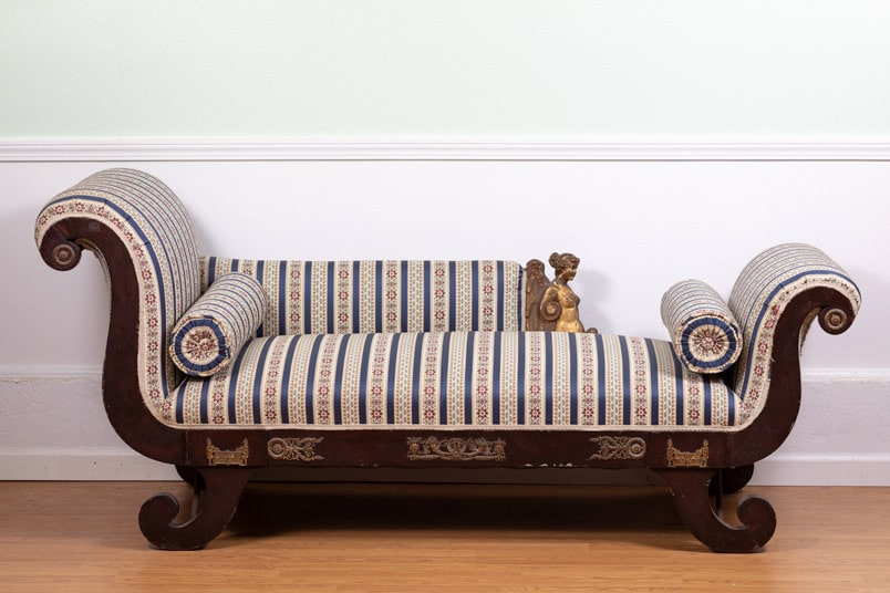 Rosewood Fainting Couch - Bryan Booth Fine Furniture Antiques
