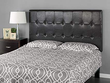 Amazon.com: Zinus Faux Leather Upholstered Square Tufted Headboard