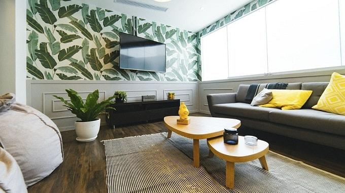 Serene feng shui living room