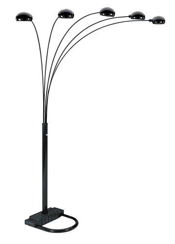 Amazon.com: ORE International 6962BK 5 Arm Arch Floor Lamp, Black
