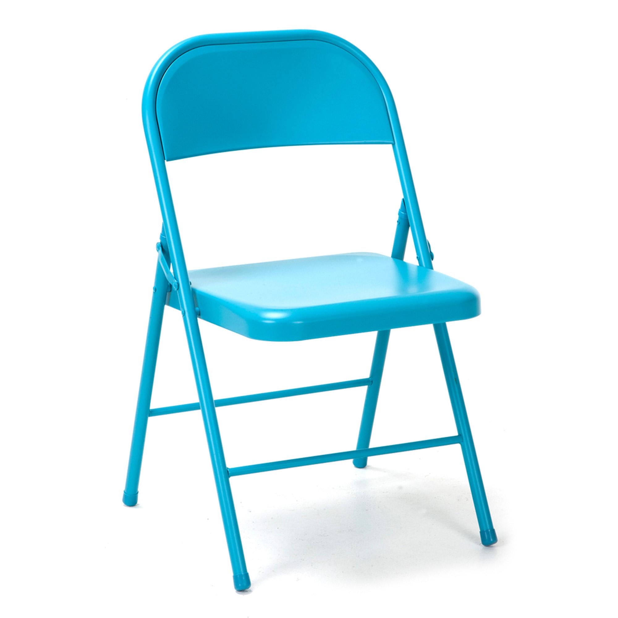 Novogratz All Steel Folding Chair, 2 pack, Multiple Colors - Walmart.com