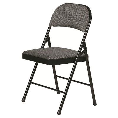 Folding Chair Rich Charcoal Gray - Plastic Dev Group : Target
