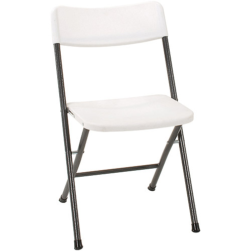 Cosco Resin 4-Pack Folding Chair with Molded Seat and Back, Multiple