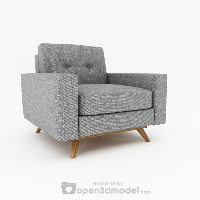Luna Armchair 3dsMax Model Vray Free Download 3D Models ID2055 (3ds
