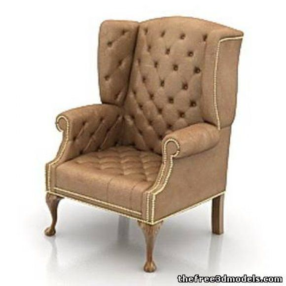 Armchair 3d model free | free 3d models | Pinterest | Model, Free