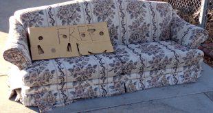 Free Sofa in Driveway