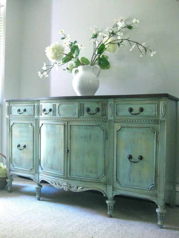 hand painted french furniture   SOLD Vintage Hand Painted French