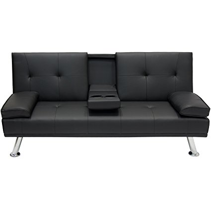 Amazon.com: Best Choice Products Modern Faux Leather Convertible