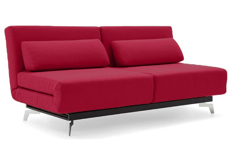 Red Modern Sleeper Sofa | Apollo Red Futon Couch | The Futon Shop