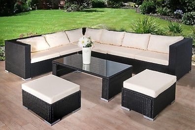 8 Seater Large Corner Sofa Rattan Garden Furniture Set in Mullingar
