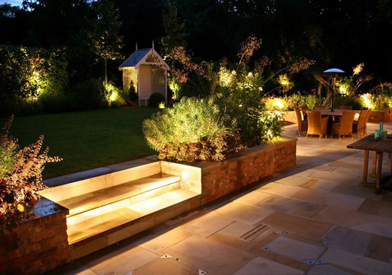Lighting In Garden With Inspirational Garden Lighting Tips & Ideas