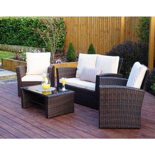 White Rattan Garden Furniture | Wayfair.co.uk