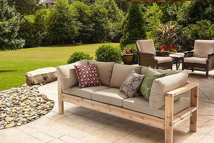 DIY - Summer Outdoor Sofa | Backyard Ideas | Diy outdoor furniture