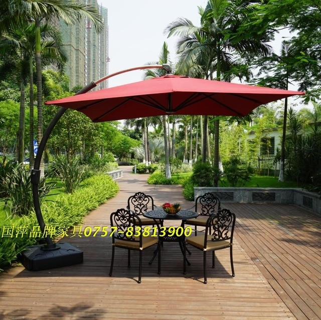 P003A Big Bend bend hanging umbrella umbrella large side garden