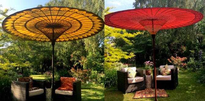 Luxury Garden Umbrellas | Garden Parasols | Patio Sun Umbrellas
