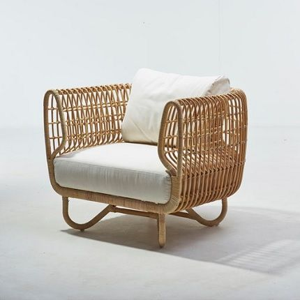 The Cane line Nest Club Chair is made of sustainable natural rattan