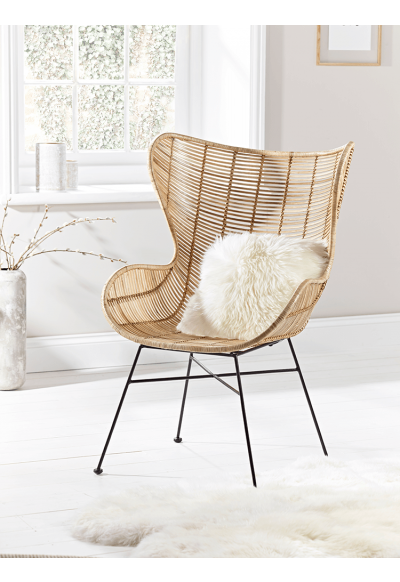 Flat Rattan Wing Chair - Furniture | My Guest Bedroom in 2019
