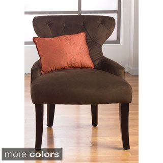 Shop for Curves Hour Glass Easy Care Fabric Accent Chair. Get free