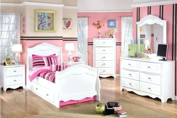 Bedroom Set For Teenage Girl Oak Wood Girls Bedroom Set With Purple