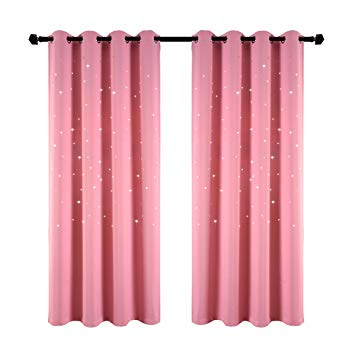 Amazon.com: Girls Bedroom Curtain for Starry Night Twinkle Blackout