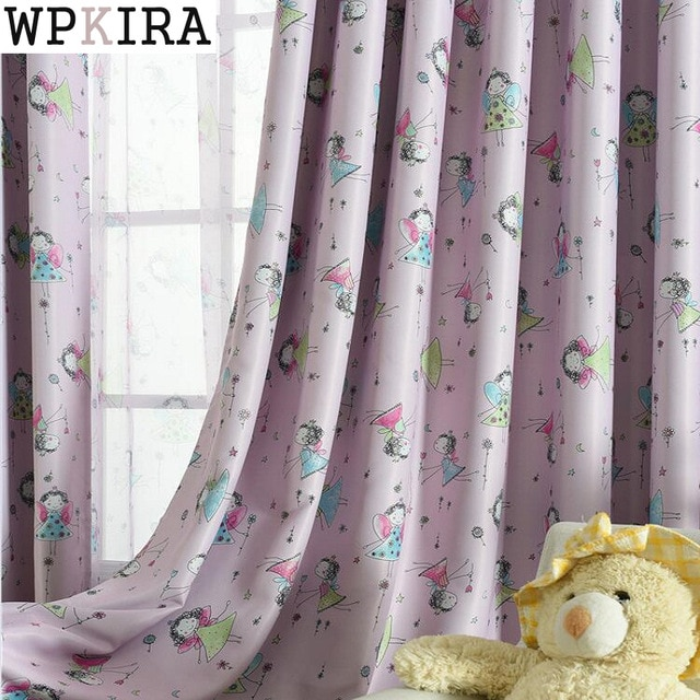 Cute Blackout Curtains For Living Room Bedroom Children Girls