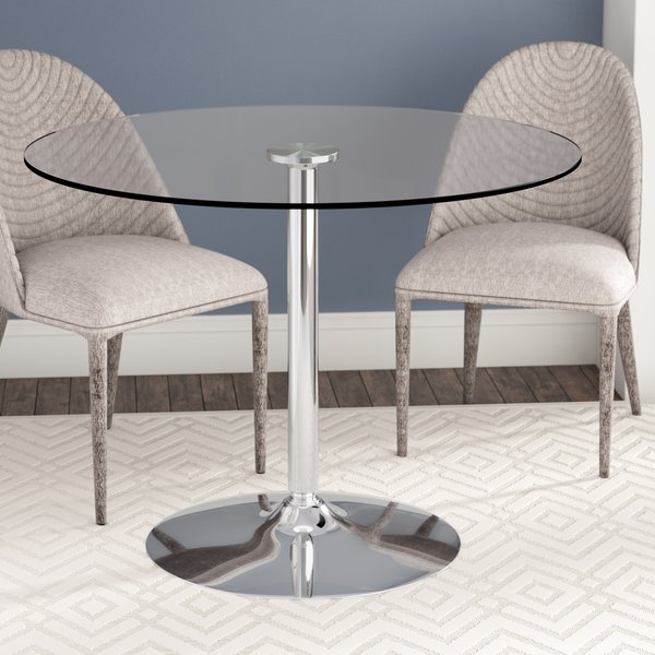 Wade Logan Cavell Round Glass Dining Table & Reviews | Wayfair