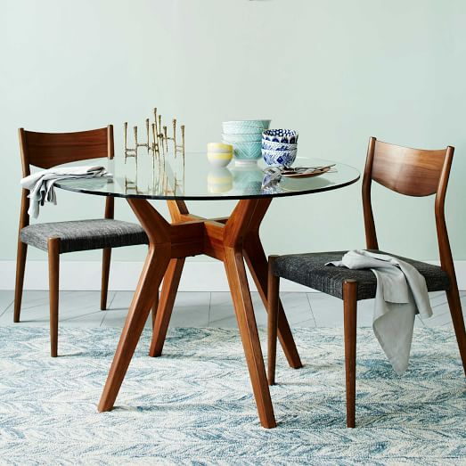 Jensen Round Glass Dining Table | west elm