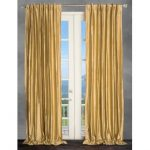 Wise selection of gold curtain   for a loyal look