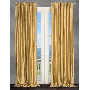 Metallic Gold Curtains   Wayfair