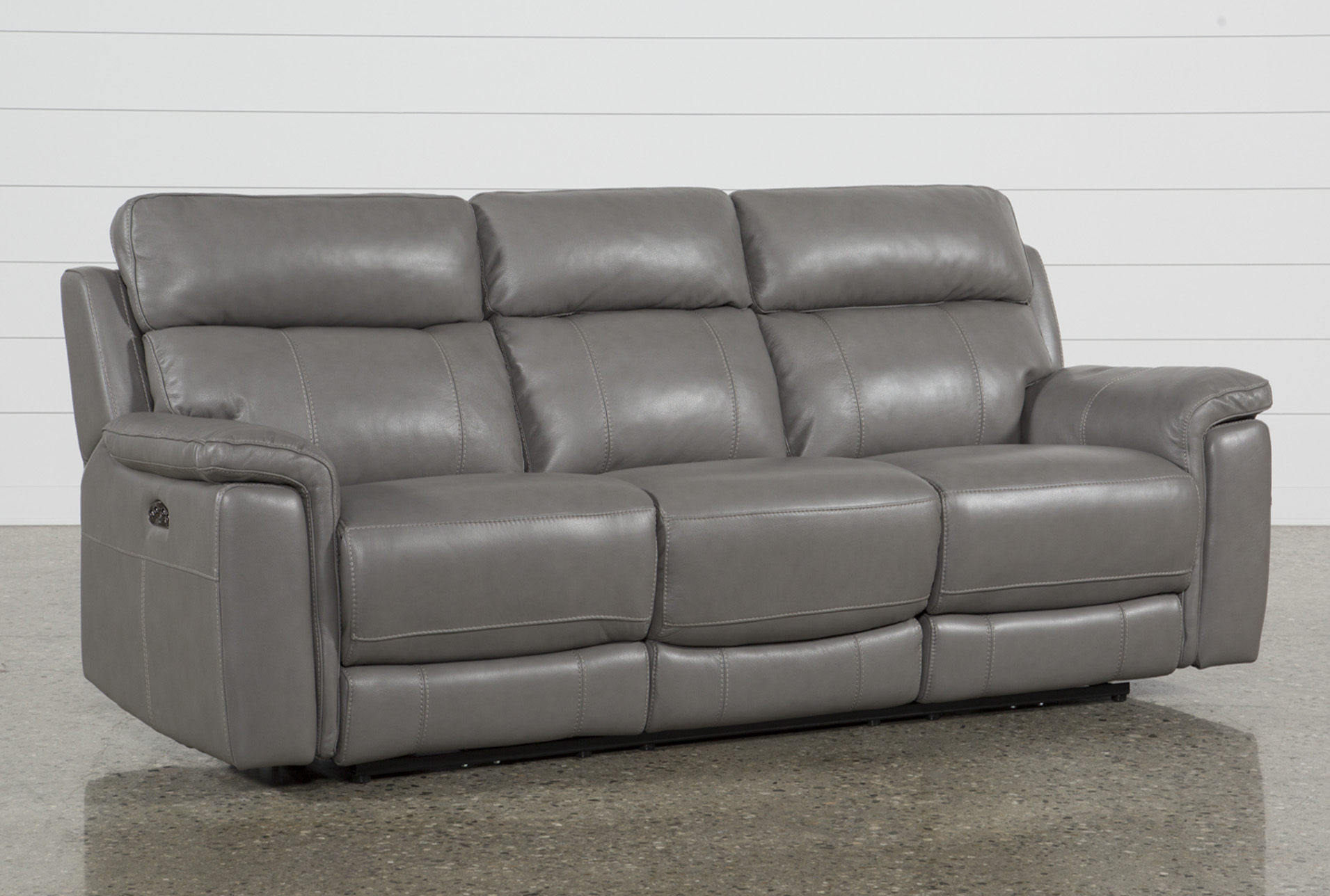 Gray Leather Reclining Sofa Is A Beautiful Selection For